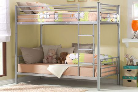 Metal Twin Bunk Bed Single 90cm