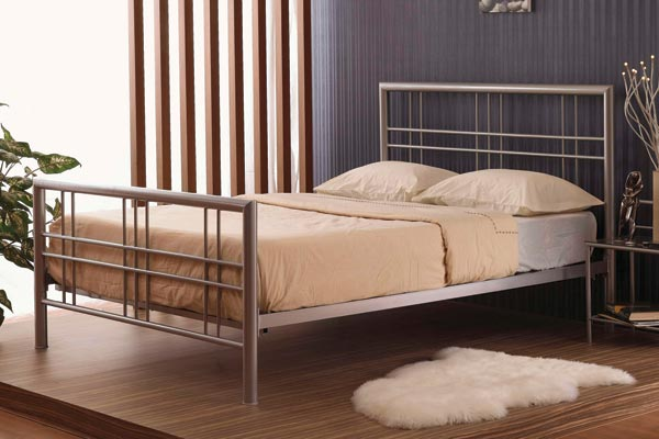 Metro Metal Bed Double 135cm
