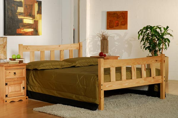 Miami Pine Bed Frame Double 135cm
