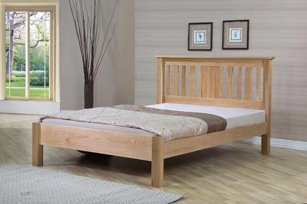 Oregon Oak Bed Frame Double 135cm