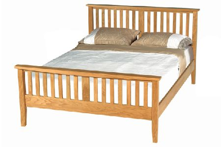 Orlean Mission Solid Oak Bed Frame Kingsize 150cm