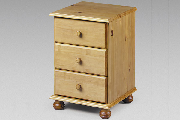 Pickwick - 3 Drawer Bedside Table