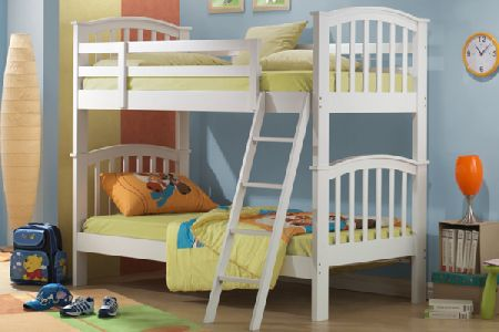 Polar White Bunk Bed Single