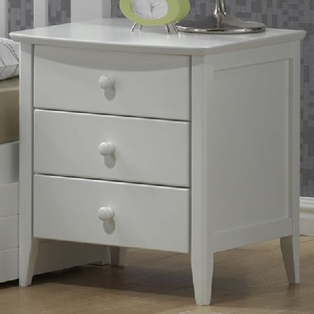 Polo 3 Drawers Bedside Table