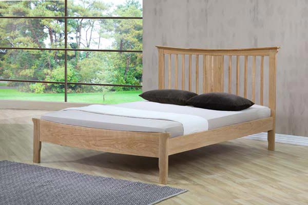 Portland Oak Bed Frame Double 135cm