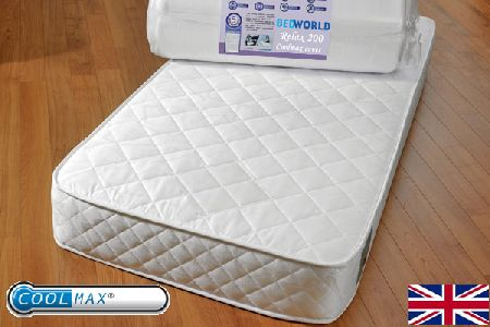 Relax 200 Coolmax Mattress Small Double 120cm