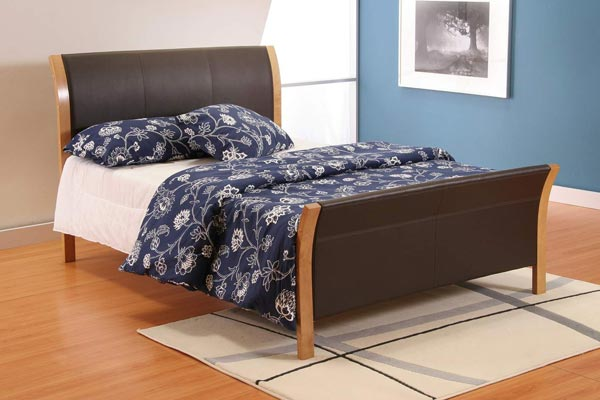 Rio Faux Leather Bed Frame Double 135cm