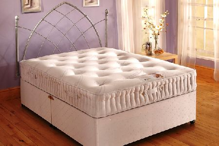Stress-Free Divan Bed (Hand Tufted) Kingsize 150cm
