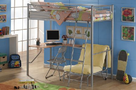 Studio Bunk Metal Bunk Beds Single 90cm