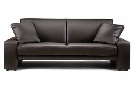 Supra Brown Faux Leather Sofa Bed