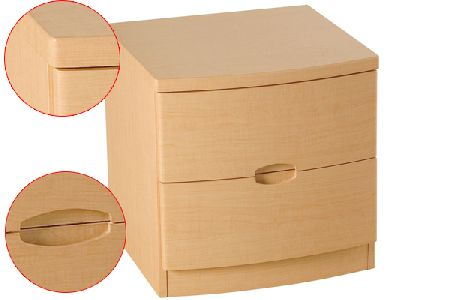 Synergy Range - Bedside Table (2 Drawers)