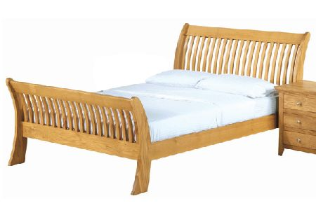 Texas Solid Oak Bed Frame Double 135cm