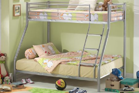 Three Sleeper Metal Bunk Bed