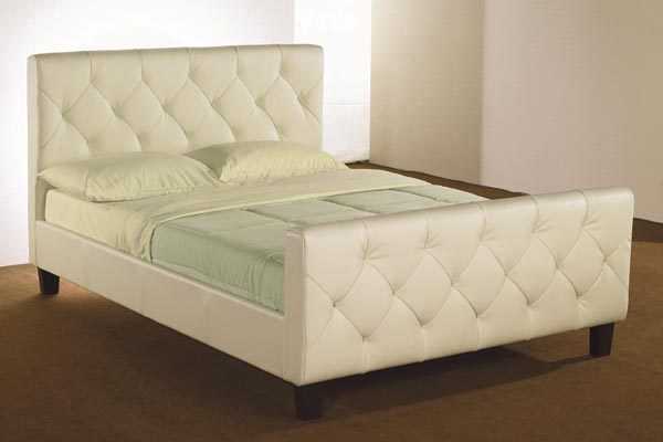 Tuscan Faux Leather Bed Frame Double 135cm