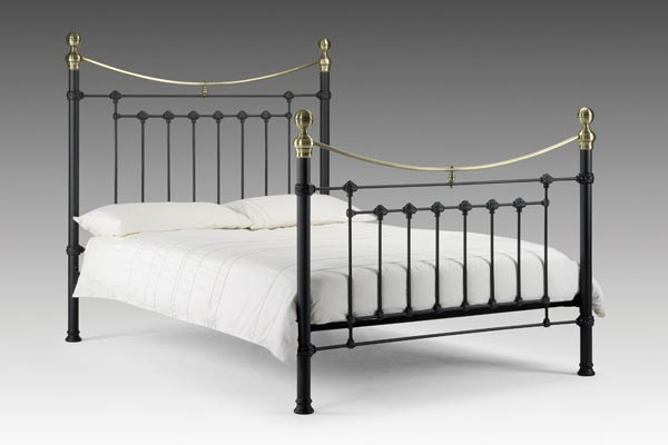 Victoria Black Bed Frame Double 135cm