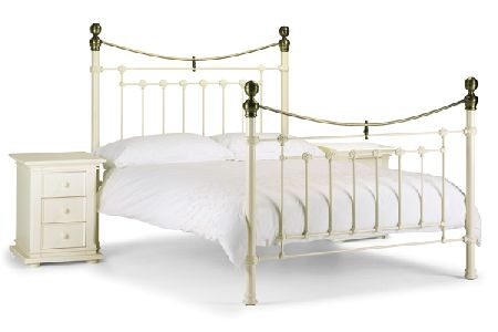 Victoria White Stone Bed Frame Double 135cm