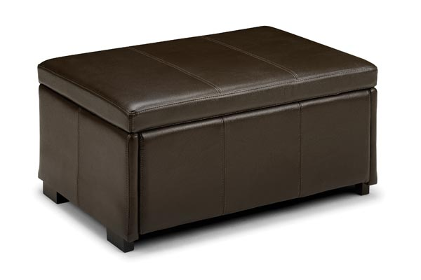 Vienna Faux Leather Ottoman Box