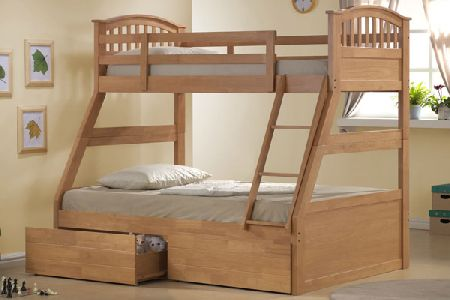 Wooden Three Sleeper Bunk Bed