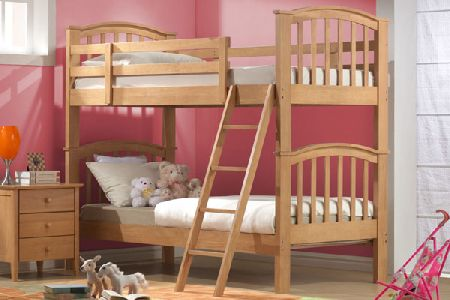 Wooden Twin Bunk Bed Single