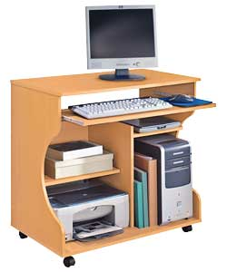 Effect Curved Computer Desk Trolley