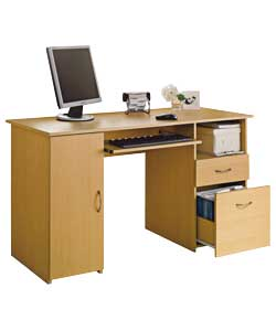 Finish Computer Desk with Filing