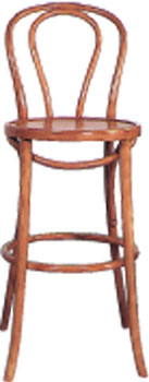 STOOL BENTWOOD BAR WITH BACK