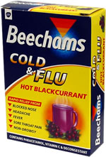 Cold and Flu Hot Blackcurrant 10x