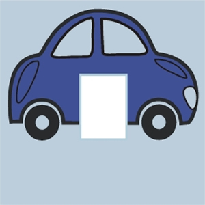 Blue Car Light Switch Cover