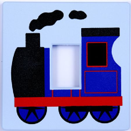 Blue Engine Light Switch Cover
