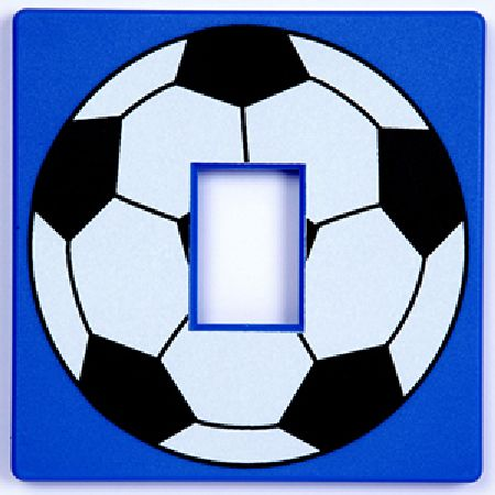 Blue Football Light Switch Cover