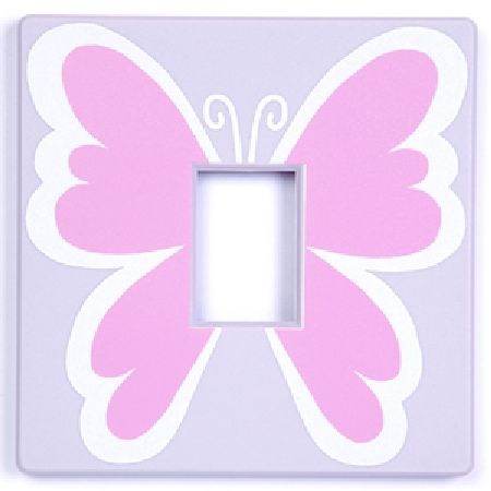 Butterfly Pink Light Switch Cover