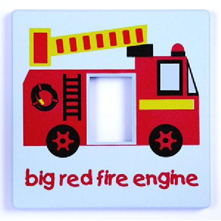 Fire Engine Light Switch Cover