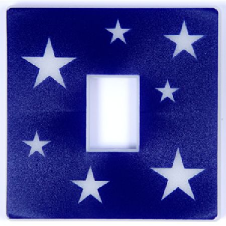 Glow in the Dark Stars Blue Light Switch Cover