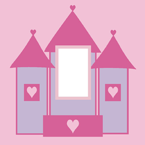 Pink Fairy Castle Light Switch Cover