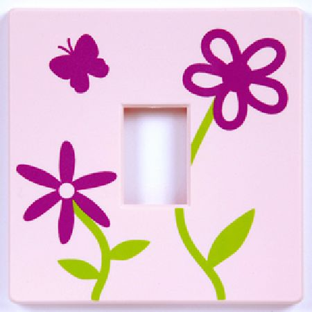 Pink Flowers Light Switch Cover