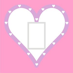 Queen of Hearts - Pink Light Switch Cover
