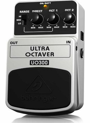 Behringer UO300 Ultra Octaver Effects Pedal