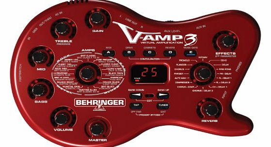 Behringer V-AMP3 GUITAR FX UNIT Next-Generation Virtual Guitar Amplifier with USB Audio Interface