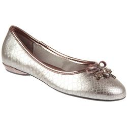 Female Brio908 Textile Upper Textile Lining in Pewter Snake
