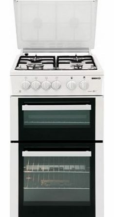 BDG584W Twin Cavity Gas Cooker