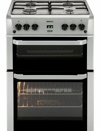 BDVG694SP Double Oven 60cm Gas Cooker - Silver