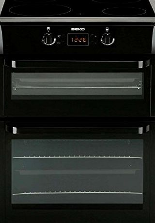 Beko BDVI668K 60cm Black Electric Double Oven Induction Hob