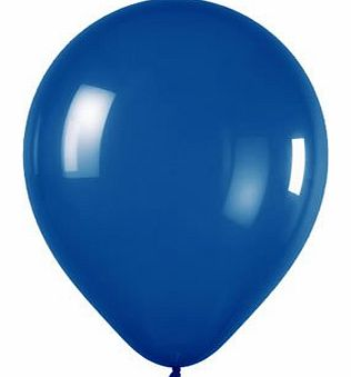 25 x 12 inch Latex Mid Blue Wedding Balloons