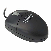 3 Button Mini-Scroll Mouse USB and PS/2 Black