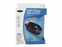 3 Button Scroll Mouse- USB & PS/2- Black