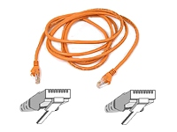 Belkin Cat5e Snagless UTP Patch Cable (Orange) 3m