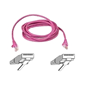 Belkin CAT5e UTP Snagless Patch Cable Pink 5m