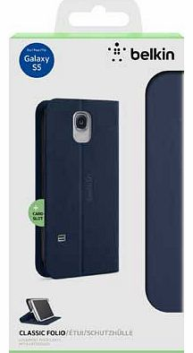 Classic Folio Case for Galaxy S5 - Navy