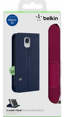 Classic Folio Case for Galaxy S5 - Purple