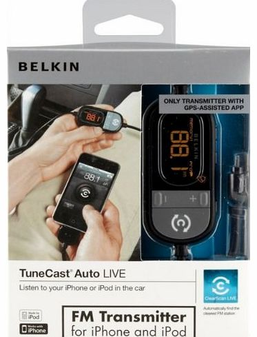 F8Z498CW, TuneCast Auto Live FM Transmitter for Apple iPhone